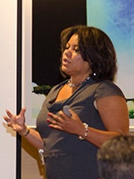 NMA senior trainer and consultant Cydney Jones, presenting a session at last year's NMA Housing Conference