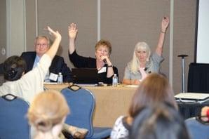 NMA's Terry Provance, Nan McKay, and Sammie Szabo presenting a legislative forecast for 2014