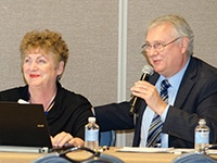 Terry Provance with president and founder Nan McKay, cohosting a session at last year's NMA Housing Conference