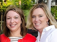 NMA trainers Samantha Pratter and Sheryl Putnam at last year's NMA Housing Conference