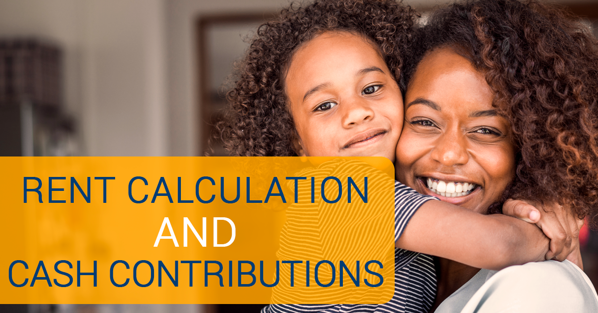 rent calculation and cash contributions